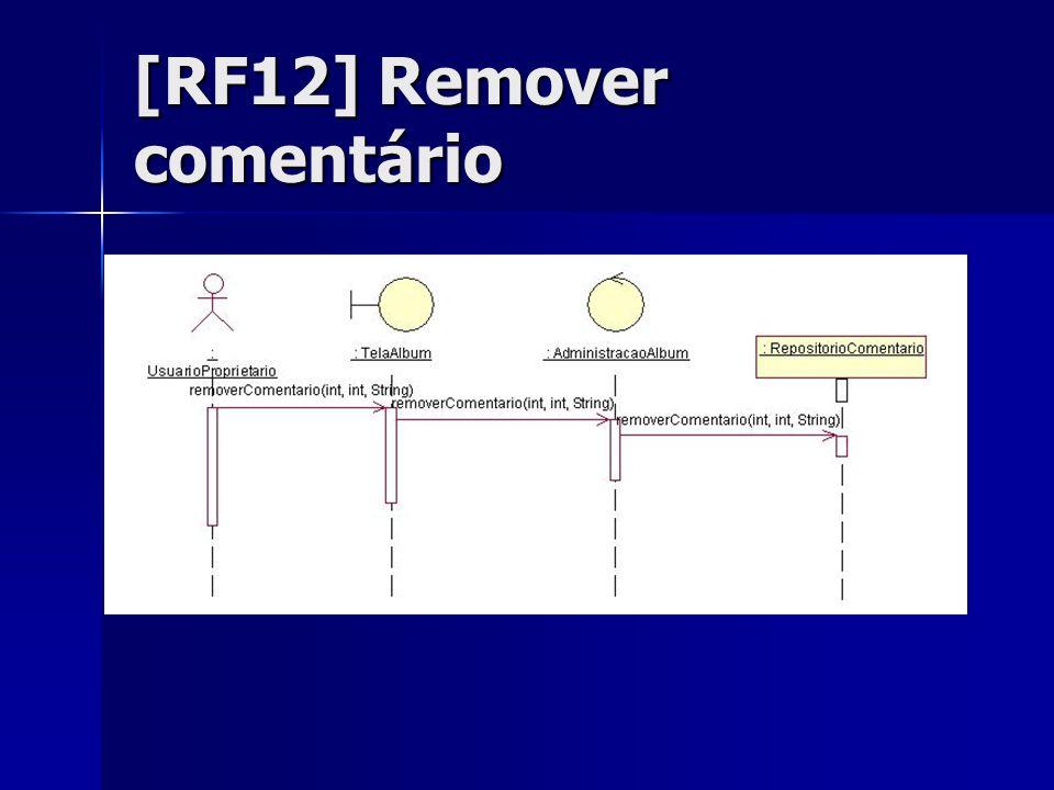 [RF12] Remover comentário